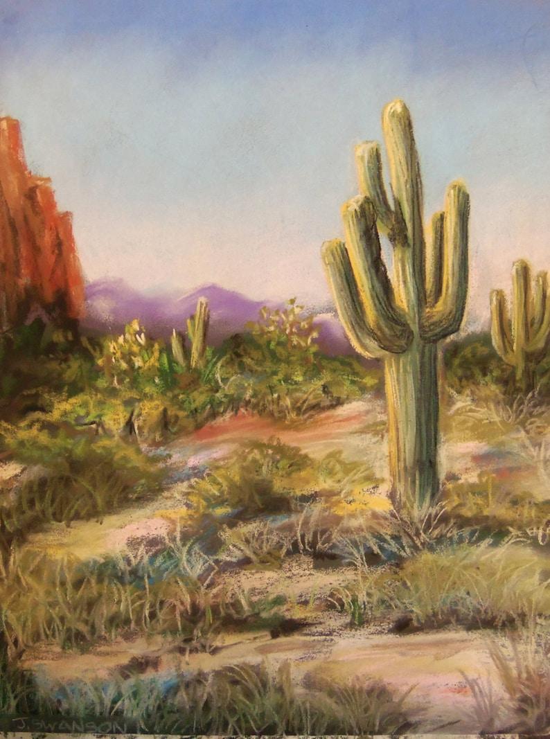 Arizona Landscape original pastel painting 9x12 FREE SHIPPING image 0
