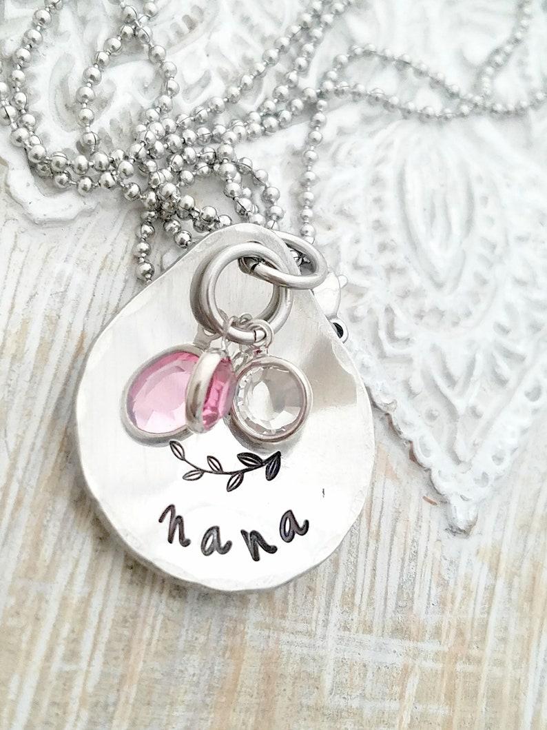 c6f6bda25 Mothers day gift-personalized necklace nana | Etsy