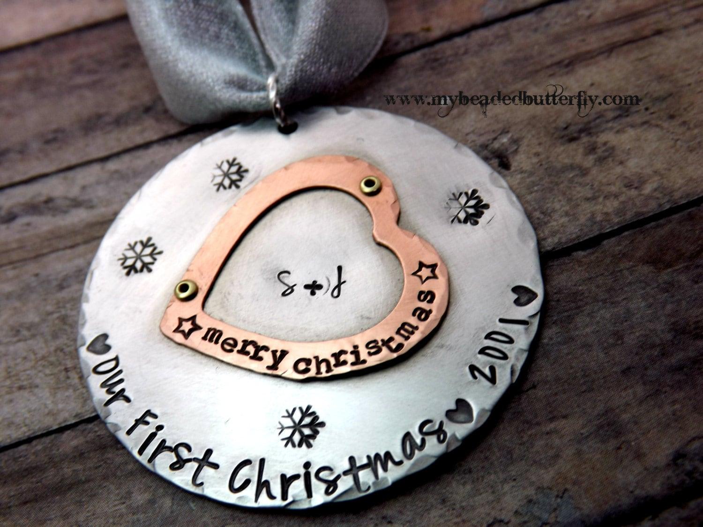 Christmas Ornament Wedding Gift: Christmas Ornament-wedding-our First Christmas-couples