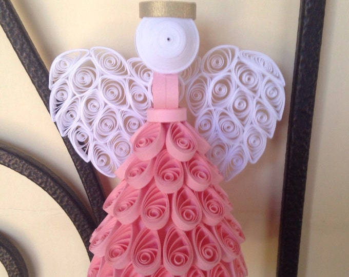 """Quilling, Angel Ornament, """"The Original"""",  choose your color"""