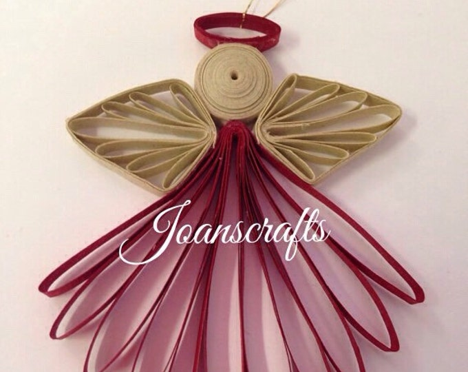 Small Quilled Angel Ornament