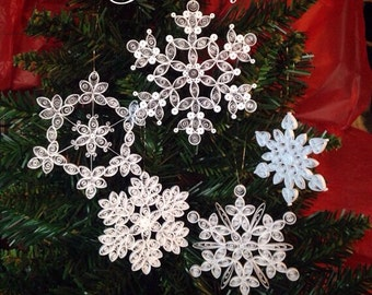 Snowflake Ornament Collection, 5 styles
