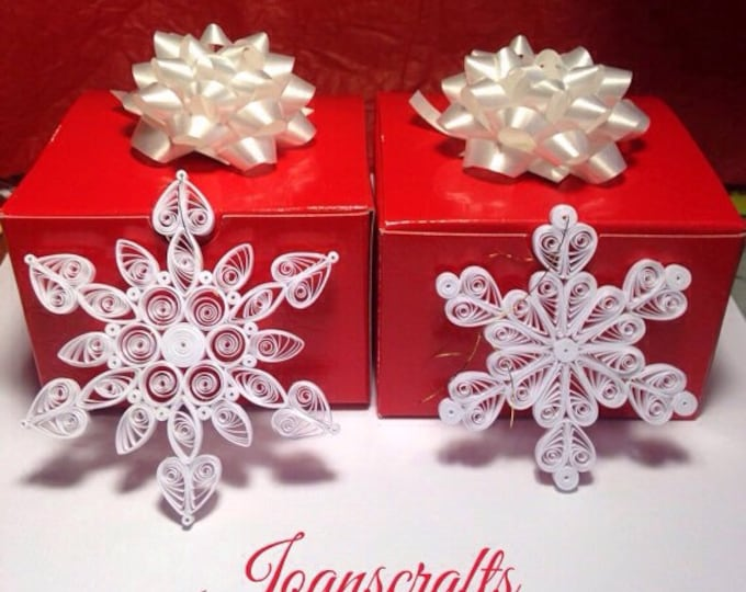 Gift Boxed Set Of Quilled Snowflakes
