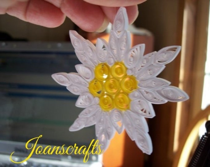 Quilling, Edelweiss Snowflake Ornament