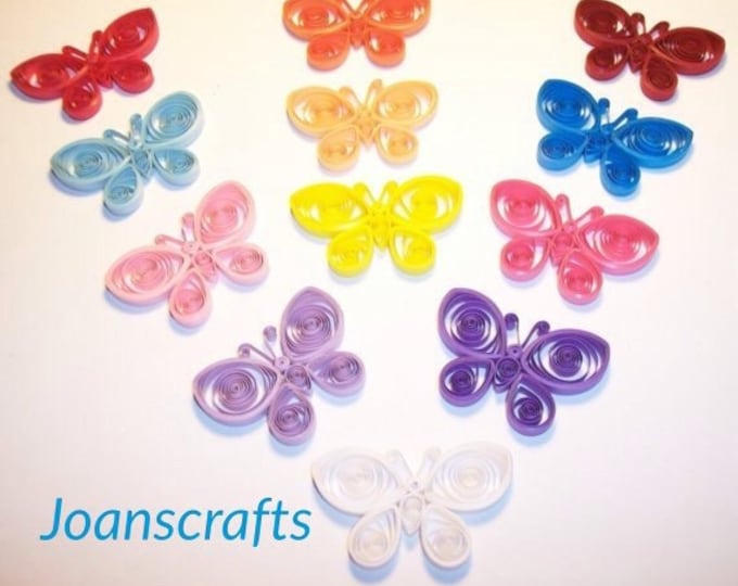 6 Quilled Butterflies for scrapbooking-PICK YOUR COLORS