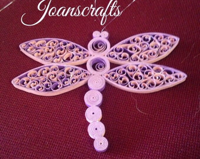 Mr. Dragonfly design in Quilling