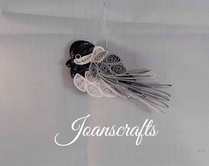 Mini Quilled Chickadee Ornament