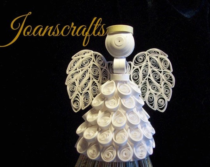 """Quilled Angel Ornament, """"The Original"""", Tree Topper"""