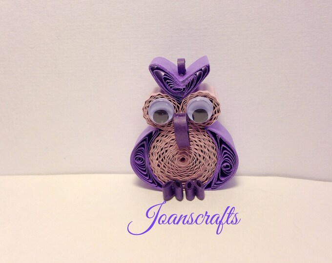 Quilling, Owl Ornament, Purple, Magnet