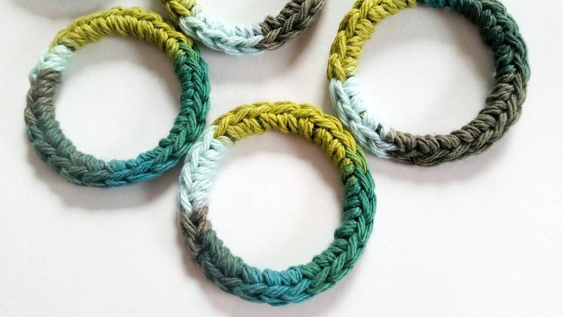 Ferret and Cat Toys Recycled Rings Toy Green Gift for image 0