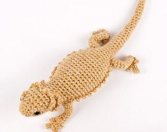 Bearded Dragon (lizard) amigurumi CROCHET PATTERN digital PDF file download