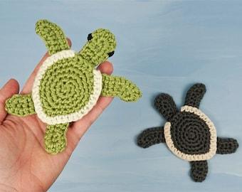 Baby Sea Turtle Applique CROCHET PATTERN digital PDF file download