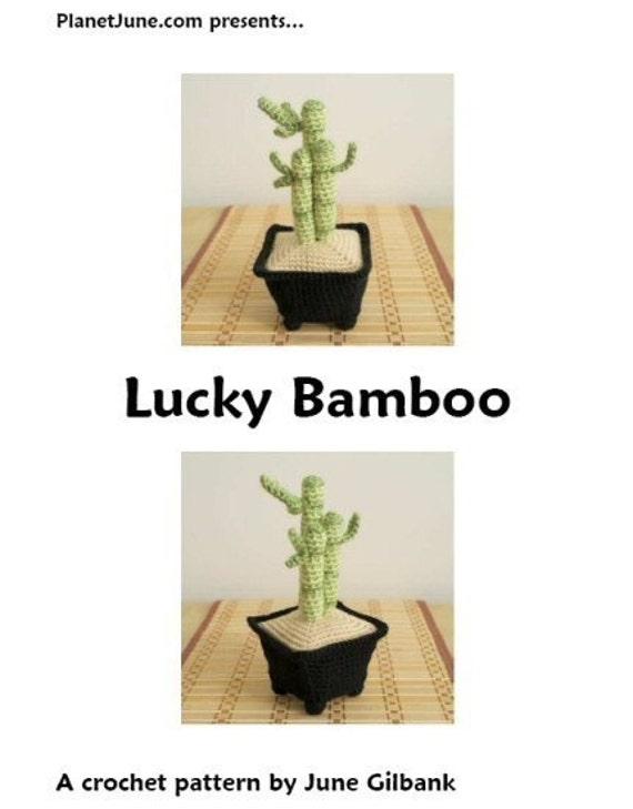 PDF Lucky Bamboo amigurumi potted plant CROCHET PATTERN | Etsy