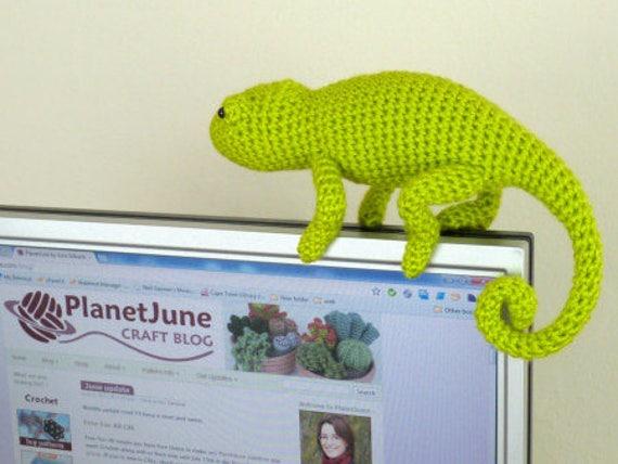 Chameleon (lizard) amigurumi crochet pattern | Crochet amigurumi ... | 428x570
