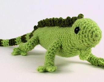 PDF Iguana (lizard) amigurumi CROCHET PATTERN digital file download