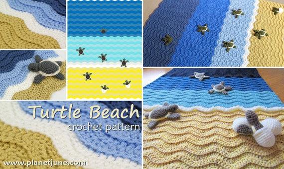 PDF Turtle Beach Blanket Crochet Pattern Baby Sea Turtle Amigurumi Crochet Patterns Simple Crochet Turtle Blanket Pattern