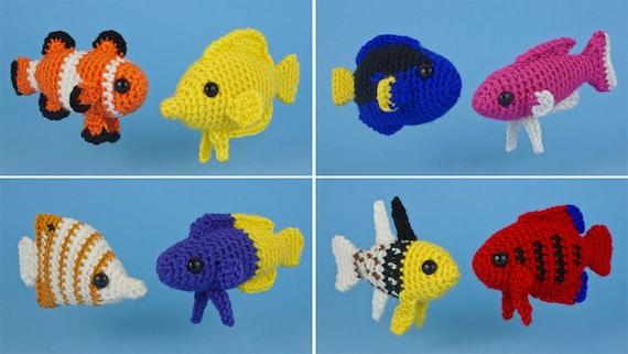 Crochet Fish Amigurumi: Baby Clownfish - Free, Quick and Easy pattern   321x570