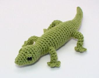 Gecko (lizard) amigurumi CROCHET PATTERN digital PDF file download