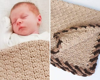 PDF Twist-Trim Baby Blanket crochet pattern CROCHET PATTERN