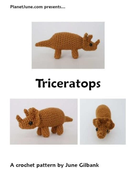 PDF Triceratops amigurumi dinosaur CROCHET PATTERN   Etsy