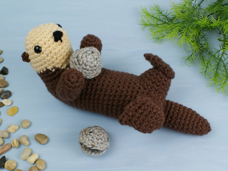 PDF Sea Otter amigurumi CROCHET PATTERN digital file download image 0