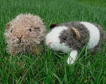 Fuzzy Guinea Pig amigurumi CROCHET PATTERN digital PDF file download