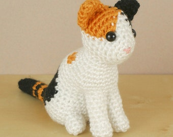 PDF AmiCats Calico Cat - amigurumi cat CROCHET PATTERN