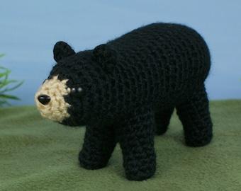 Black Bear amigurumi CROCHET PATTERN digital PDF file download