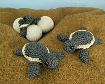 PDF Baby Sea Turtle Collection - three amigurumi CROCHET PATTERNS digital file download