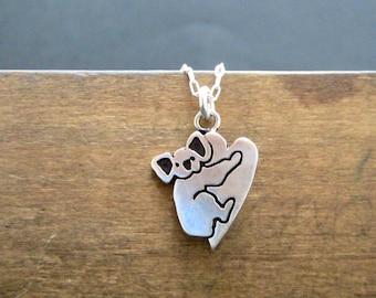 Sterling Koala Necklace - Silver Silver Koala Pendant