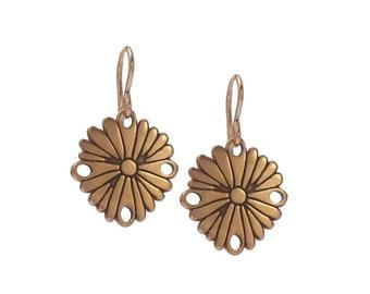 Rose Gold Flower Earrings  - Flower Earrings in Rose Gold
