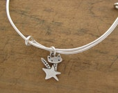 Starter Charm Bangle - Choose Your Charm - Cat Bangle