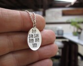30th Birthday Necklace - 30th Anniversary Necklace - Who's Counting Reversible Sterling Silver Necklace