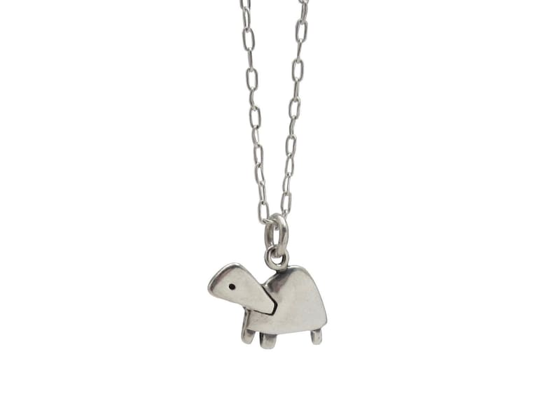 Little Turtle Necklace  Sterling Silver Pet Turtle Pendant  image 0