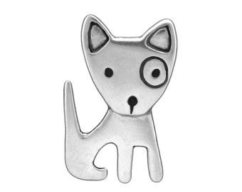 Sterling Silver Dog Necklace - Spot Dog Pendant