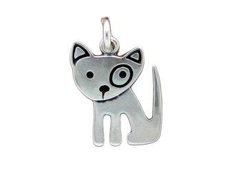 Little Spot Dog Sterling Necklace - Silver Dog Pendant