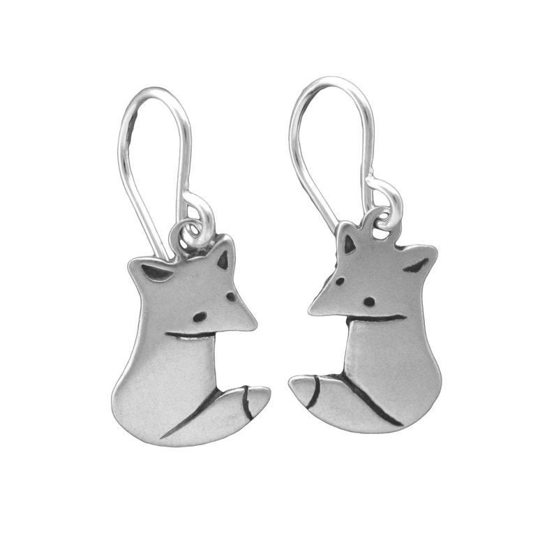 25fb2b713ca6e Little Wild Fox Earrings - Sterling Silver Fox Earrings