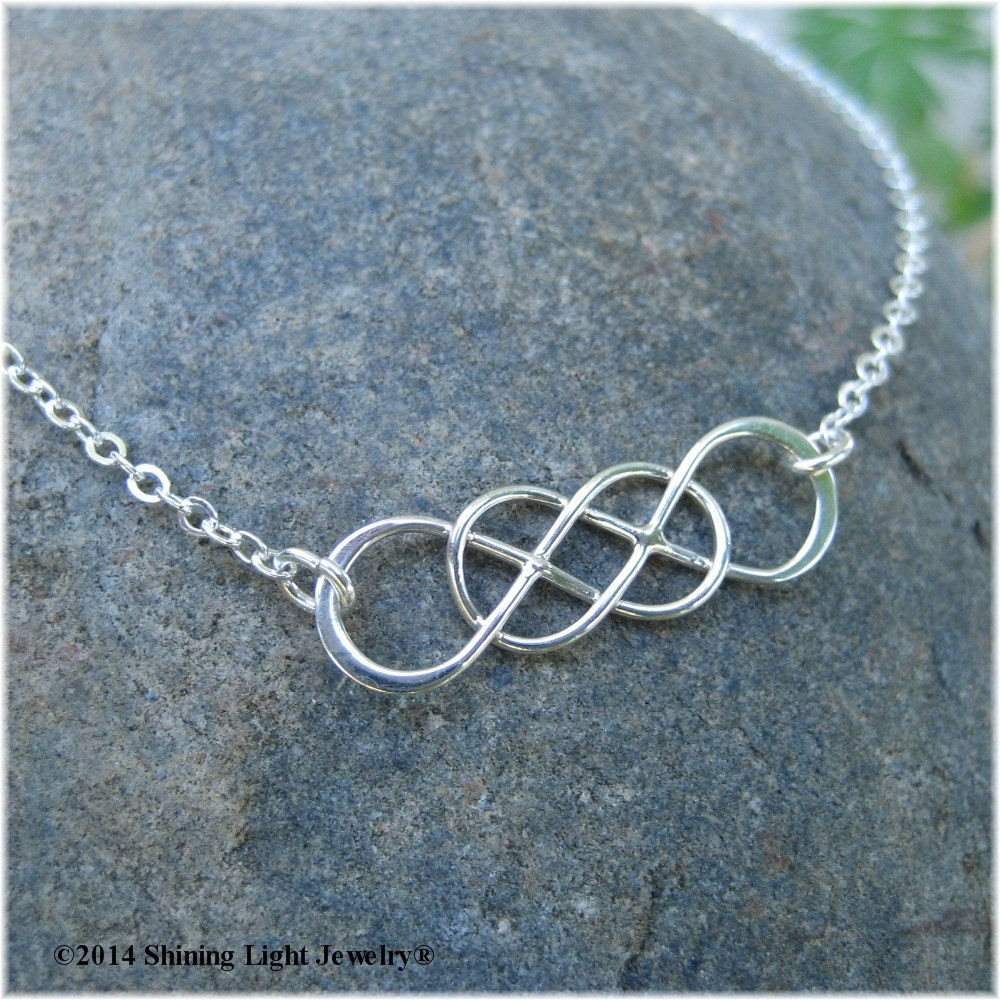 Always and Forever Double Infinity Necklace Sterling ...