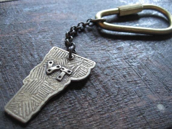 Brass Vermont Keychain