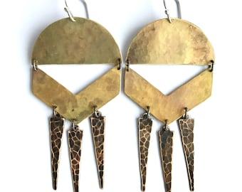 Brass Summer Chime Earrings