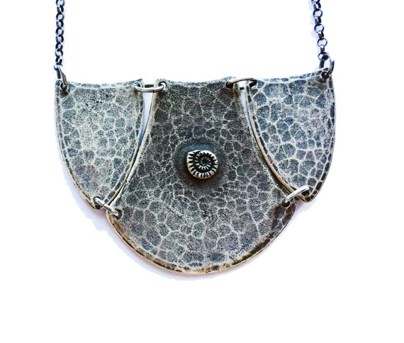 Hammered Collar - Sterling