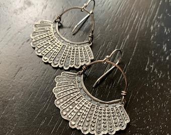 Dissent Earrings - Sterling