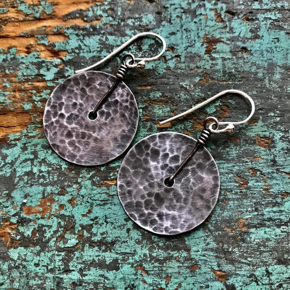 Small Sterling Disk Earrings