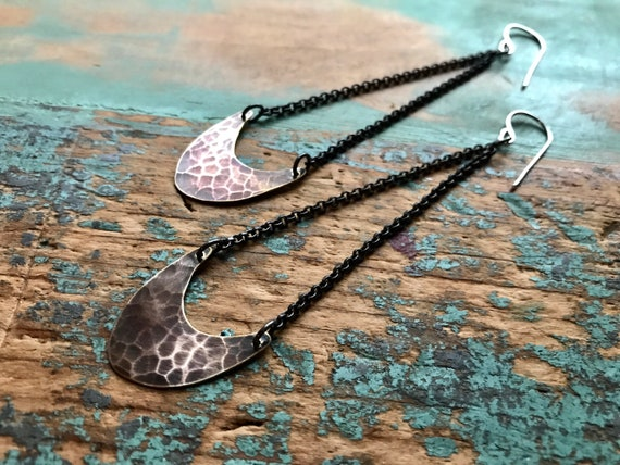 Small Pendulum Earrings - Brass