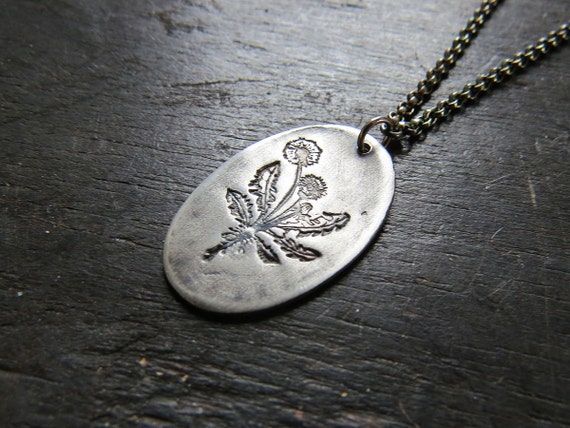 Dandelion Pendant - Sterling Silver on sterling chain
