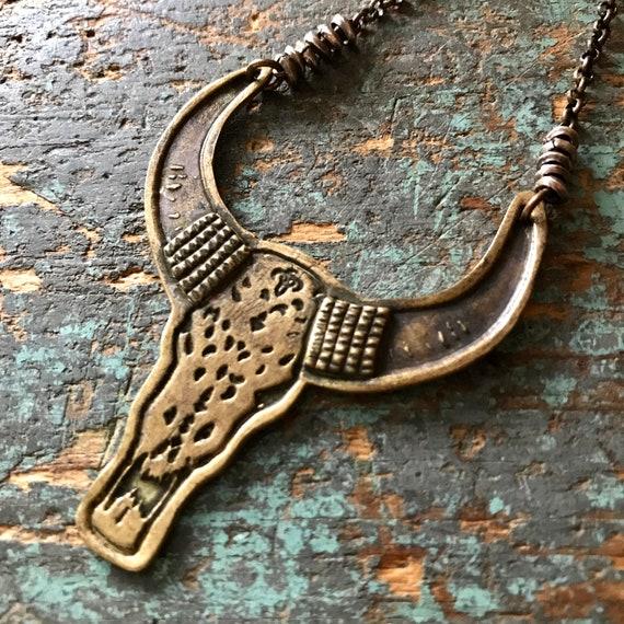 Brass Bull Pendant
