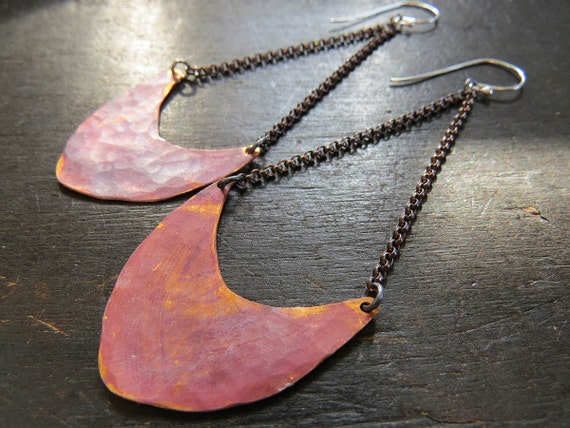 Medium Pendulum Earrings - Copper