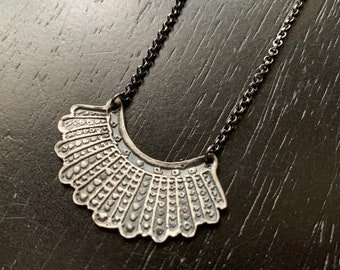 Dissent Pendant - Sterling Silver