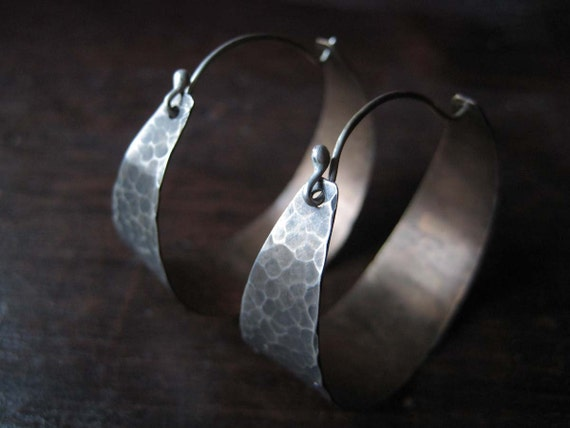 Silver and Brass Hoops