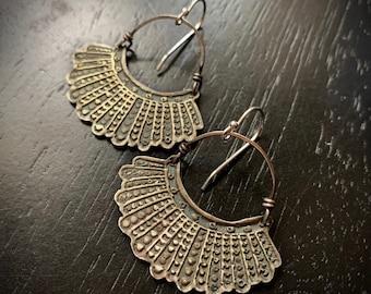 Dissent Earrings - Brass